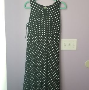 Liz Claiborne B/W polka dot dress